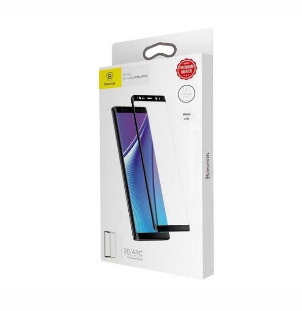 گلس بیسوس سامسونگ  Baseus 3D Arc Glass for Samsung Note 8